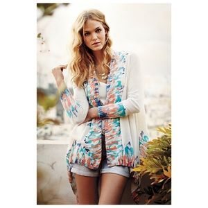 Anthropologie Guinevere Sapphire Flame Cardigan XS